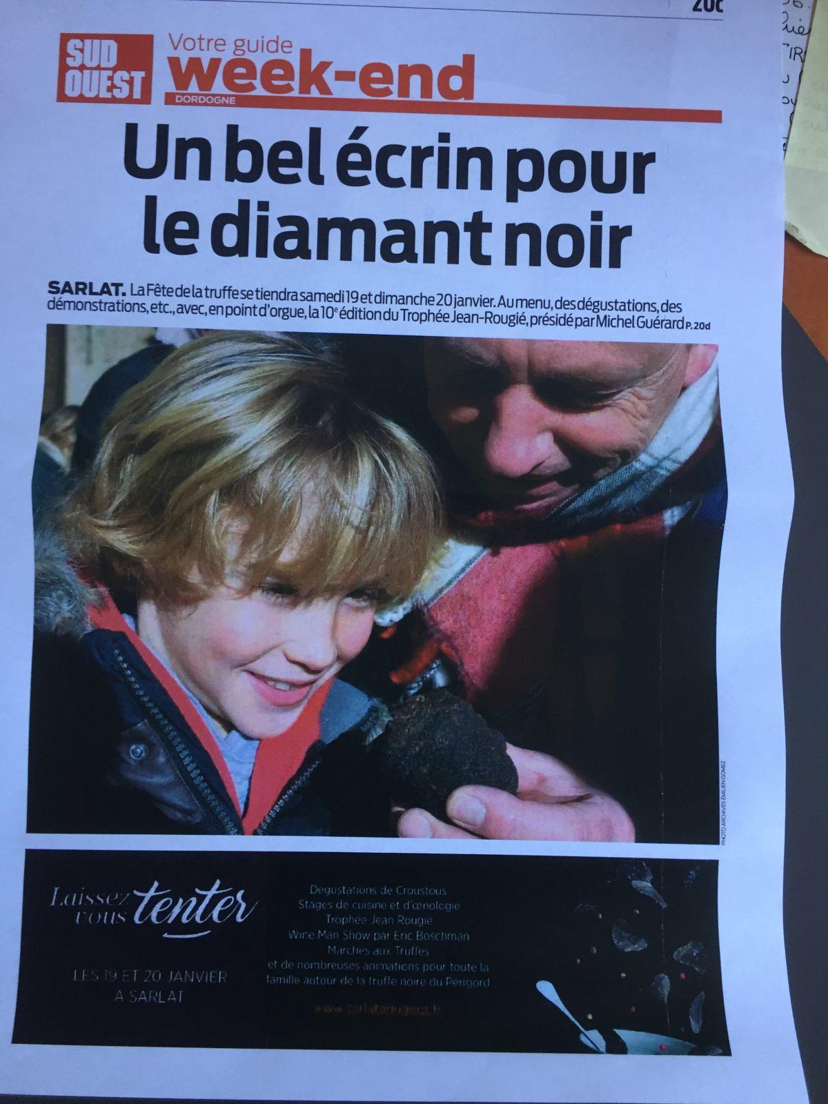 La fête de la truffe et le concours culinaire Jean Rougié remportent le trophée du tourisme et de l'innovation